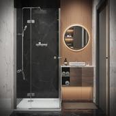 Визуализация ванной комнаты 3,5 кв.м.