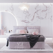 """Bedroom for two girls """"In a pink haze"""""""
