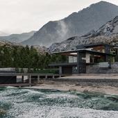 Загородный жилой дом на берегу черного моря 1700 м2
