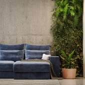 Sofa in the background ECO style interior