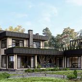 3D визуализация загородного дома в LUMION