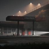 Заброшенная бензоколонка