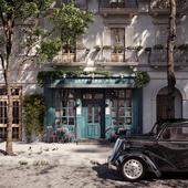 Coffe house facade visualisation