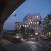 Визуализация офисного здания в Париже. Часть 2