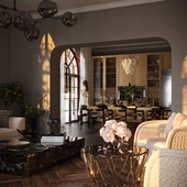SUNSET. Living room & Kitchen