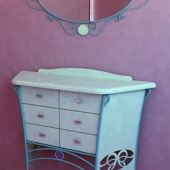 chest of drawers, mirror in infant