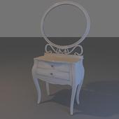 Kamoda model and mirror Modenese Gastone