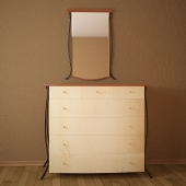 Chest of drawers and a mirror of pro forma Diseno
