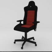 Armchair black-red