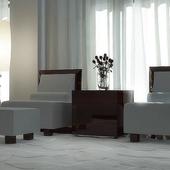 "кресло и пуф фабрики ""Malerba"""