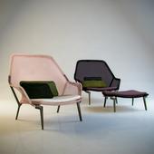 Slow Chair & Ottoman, Vitra