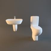washbasin and toilet
