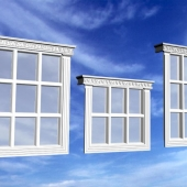 The window using the facade decor firm Izoman