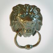 Ручка двери в виде головы льва