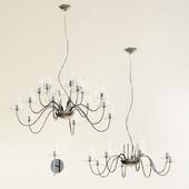 Lightstar chandelier and wall brackets