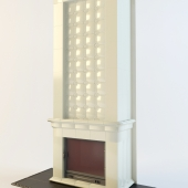 majolica fireplace