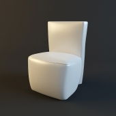 Chair to the toilet table