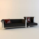 Chinese furniture. Sofa and armchair.