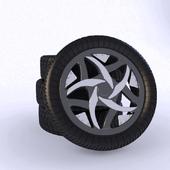 Automobile wheel.