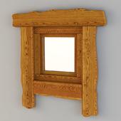 Wooden window in the bath