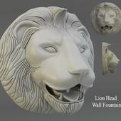 Lion Head  Wall Fountain