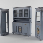 Snack bar and two display cases