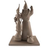 статуэтка деда мороза и снегурочки