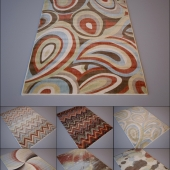 Nourison / Mondrian Multi-Coloured set 3