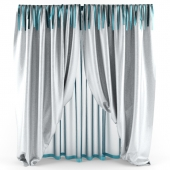 curtains with ribbons