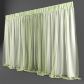 White curtains with citric veil