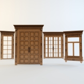 Doors and Windows with carved aprons