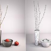 Decorative vase with pomegranate