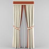 curtains with picked and bando