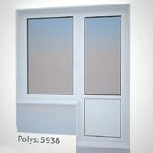 Plastic window with door