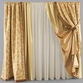 curtains with a veil