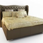 HOLLYWOOD SWANK UPHOLSTERED BED