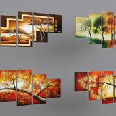 Triptychs trees