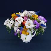 Hyacinth, Freesia, tulips