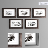 Posters with retro cars. Part 1