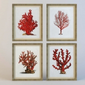 """Painting """"Red Coral"""""""