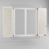 Windows with triple window shutters