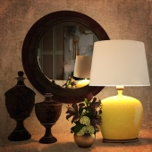 Uttermost / Geraldine Table lamp with accessories