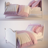 Catalina Bed Trundle & with pink linen