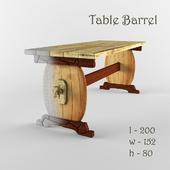 Деревянный стол Barrel
