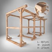 Деревянная конструкция из бруса