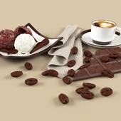 Мороженое, кофе, шоколад