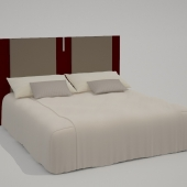 bed with high back