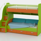 Children's two level bed