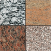 Texture of granite and marble