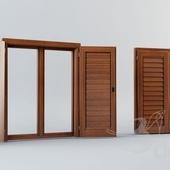 Wood window&shutters
